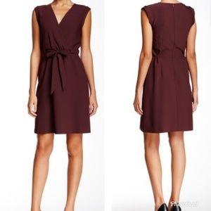 THEORY Pavita Tie Waist Sleeveless Wrap Dress 4